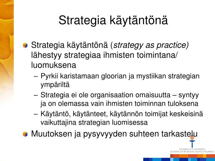 Strategia käytäntönä