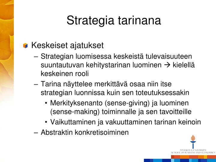 Strategia tarinana