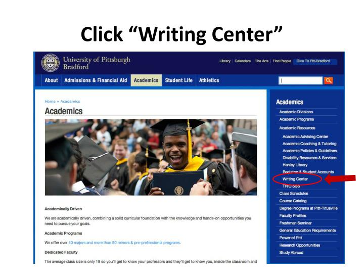 Click writing center