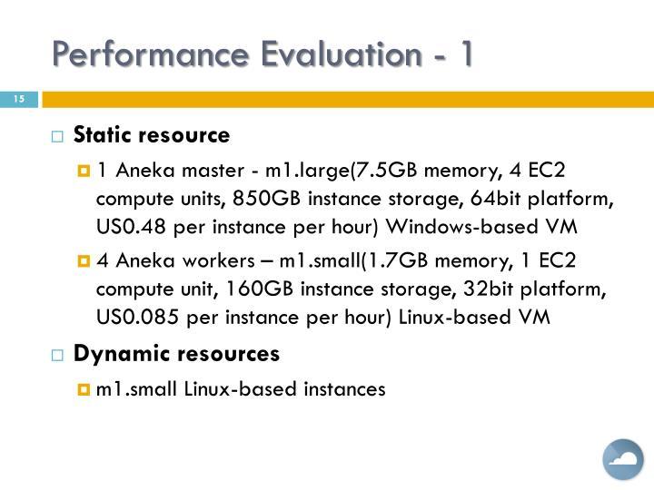 Performance Evaluation - 1