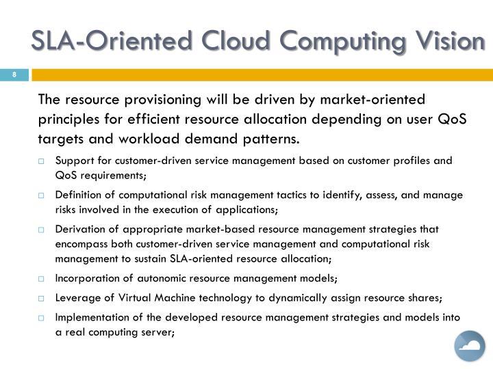 SLA-Oriented Cloud Computing Vision