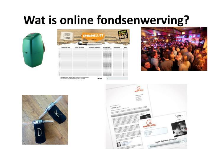 Wat is online fondsenwerving?