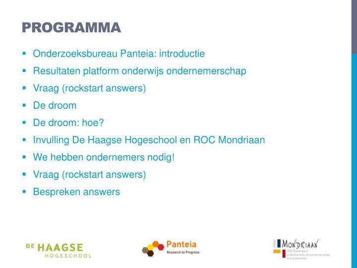 Programma