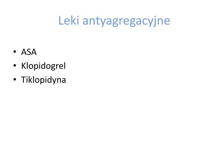 Leki antyagregacyjne