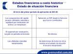 estados financieros a costo hist rico estado de situaci n financiera4