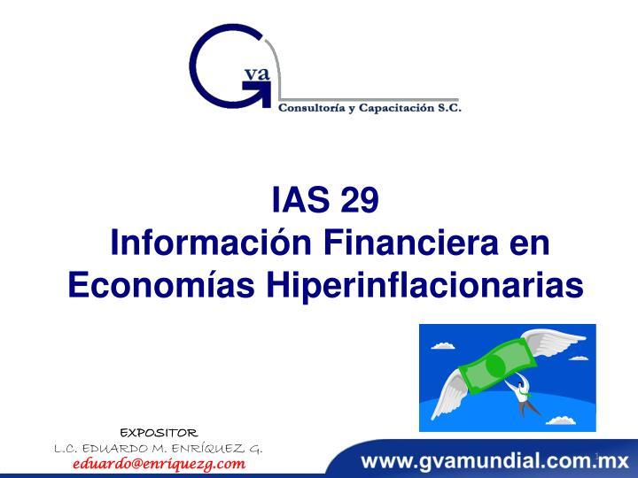 ias 29 informaci n financiera en econom as hiperinflacionarias