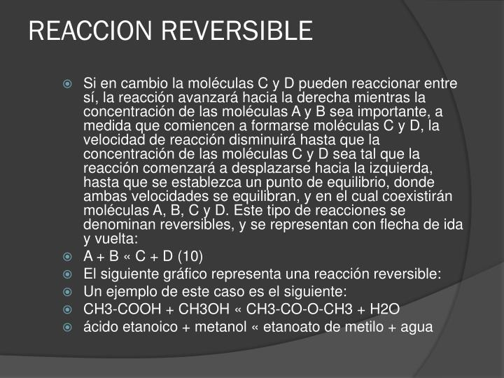 Reaccion reversible