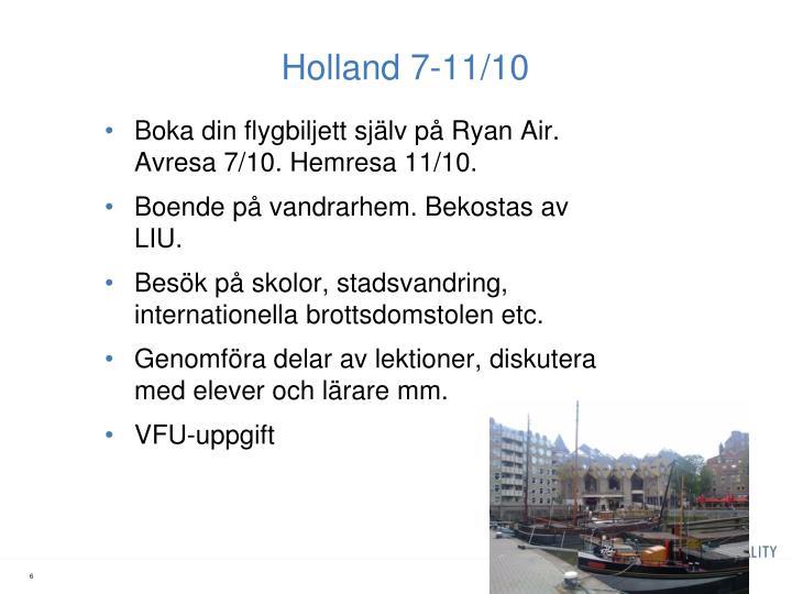 Holland 7-11/10