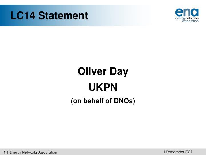 LC14 Statement