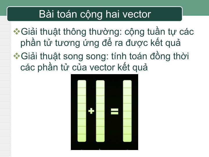Bài toán cộng hai vector
