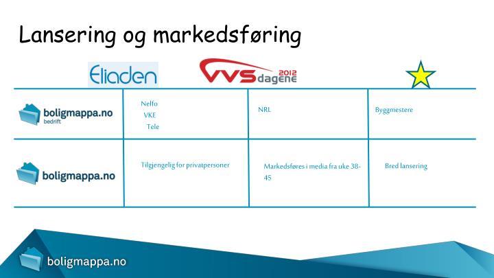 Lansering og markedsføring