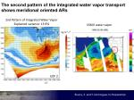the second pattern of the integrated water vapor transport shows meridional oriented ars