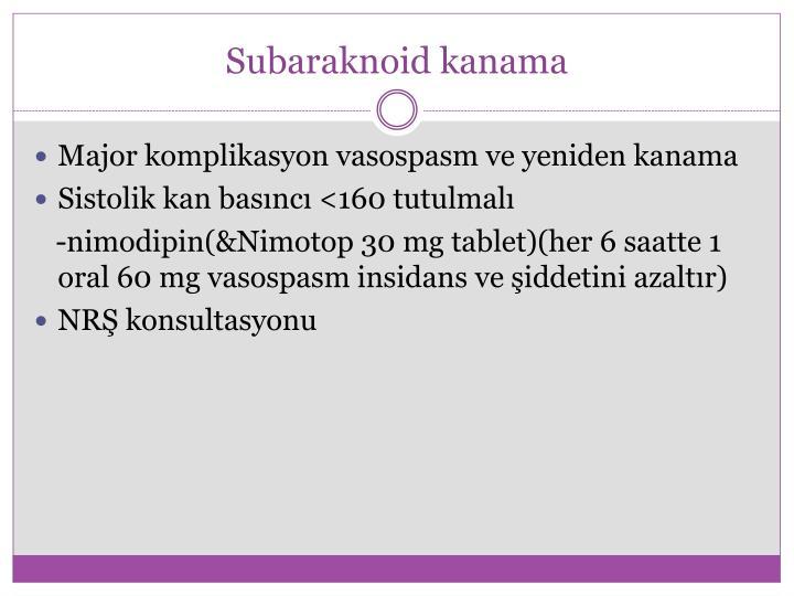Subaraknoid