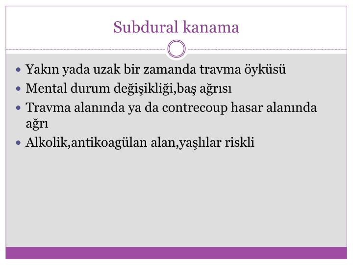 Subdural