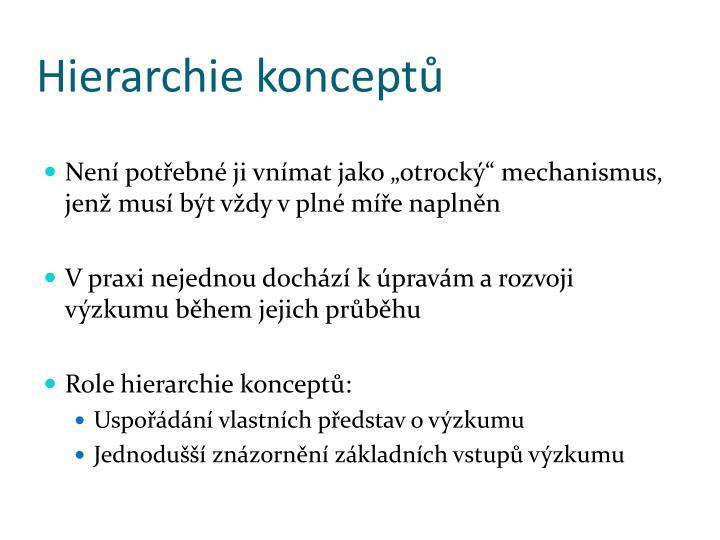 Hierarchie konceptů