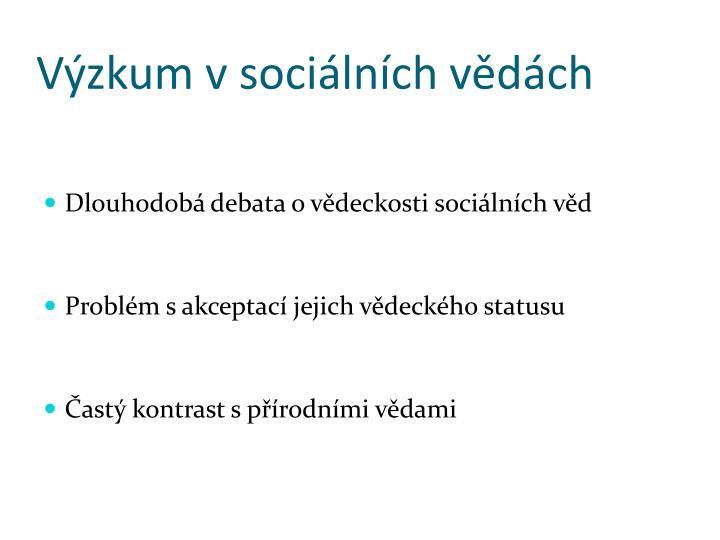 Výzkum v sociálních vědách