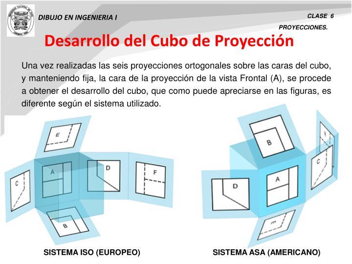 Desarrollo del Cubo de Proyección