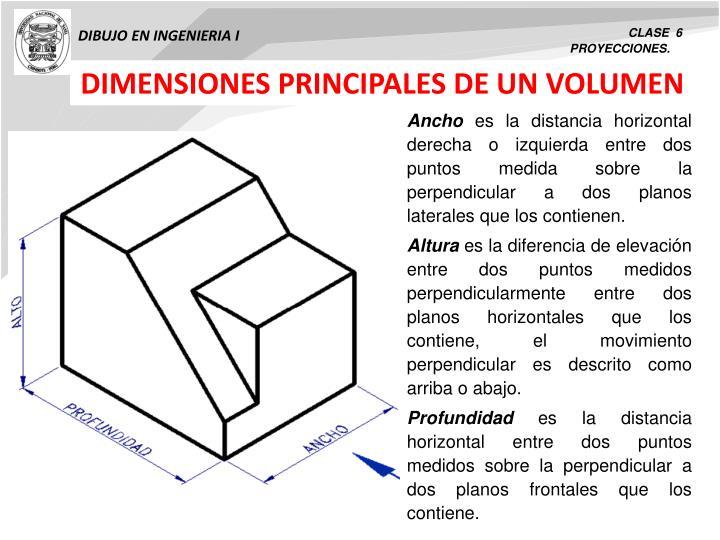 DIMENSIONES PRINCIPALES