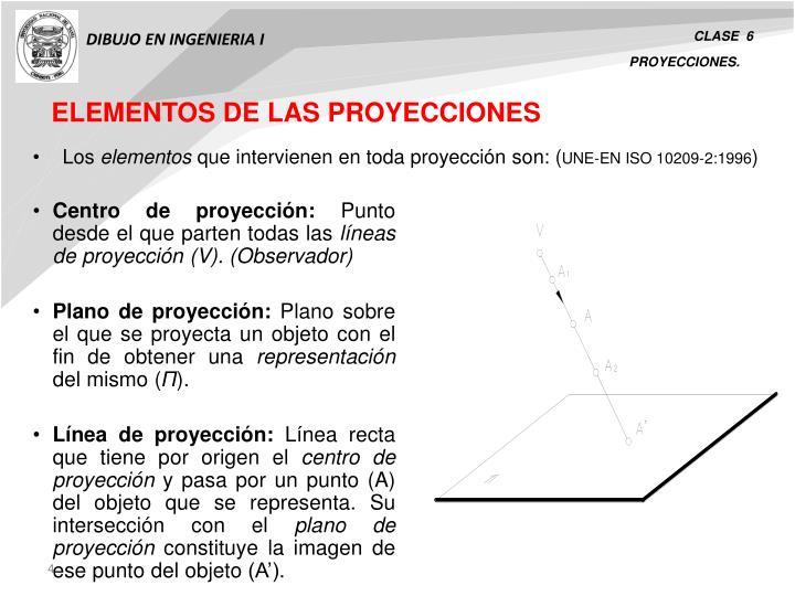 ELEMENTOS DE LAS PROYECCIONES