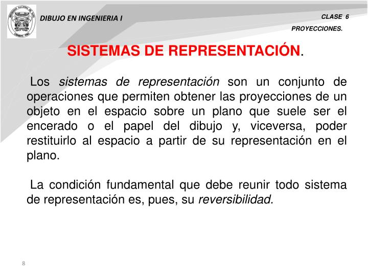 SISTEMAS DE REPRESENTACIÓN