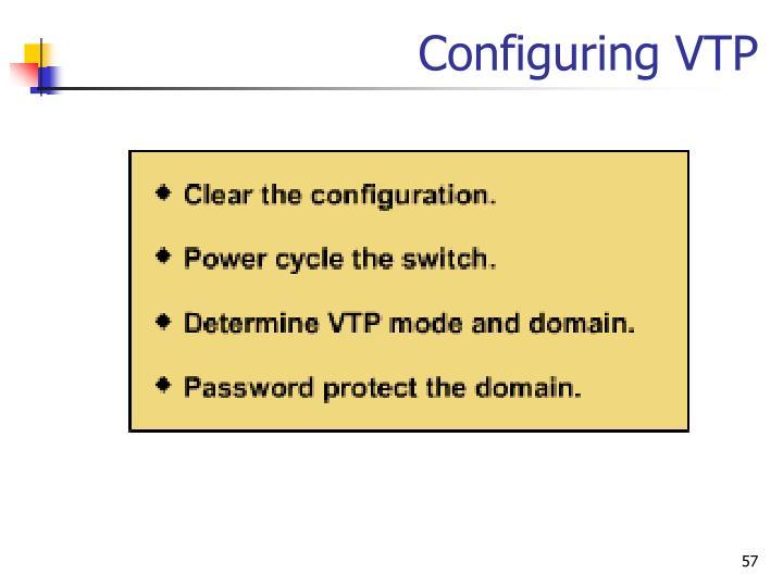 Configuring VTP