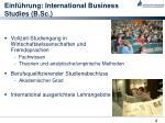einf hrung international business studies b sc