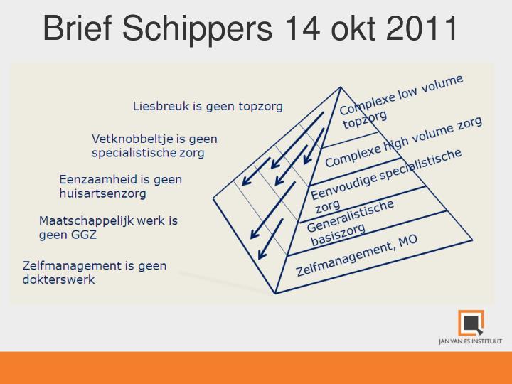Brief Schippers 14 okt 2011