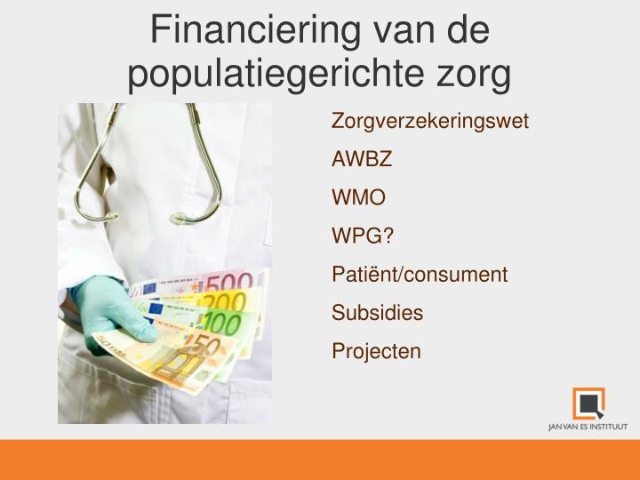Financiering van de populatiegerichte zorg