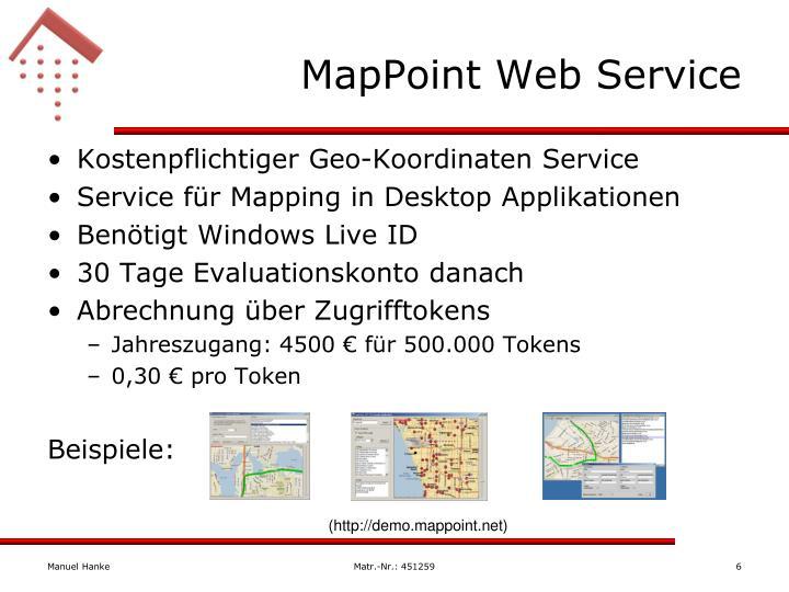 MapPoint Web Service