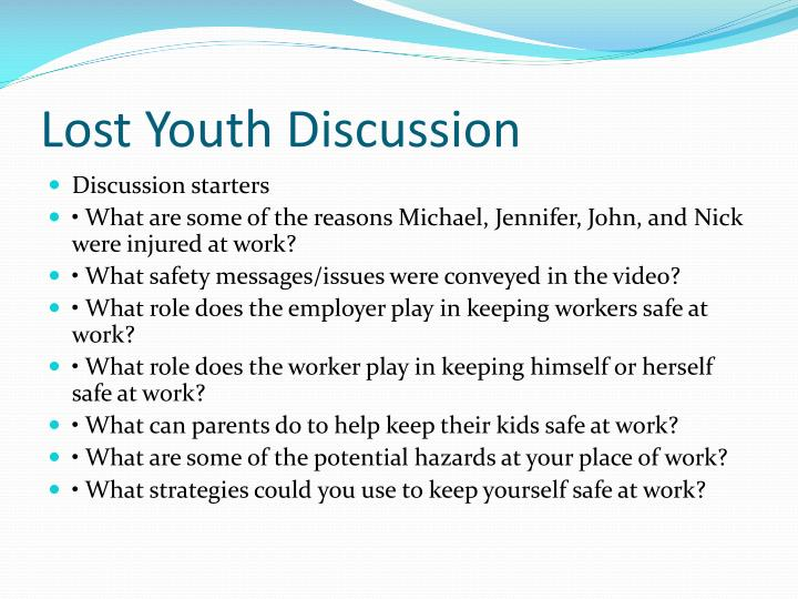 Lost Youth Discussion