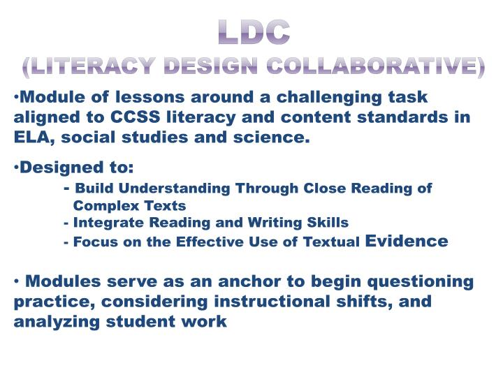 Ldc literacy design collaborative