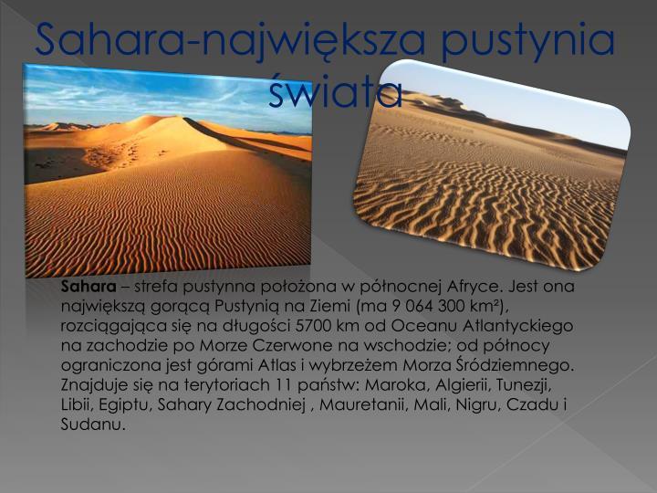 Sahara-największa pustynia