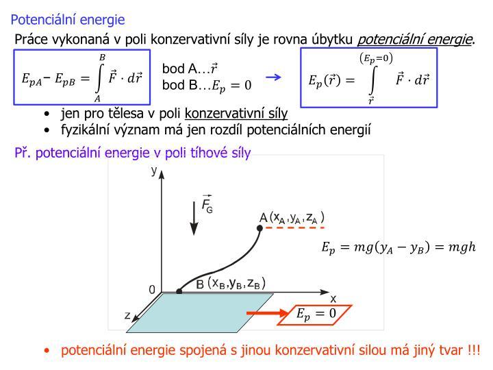 Potenciální energie