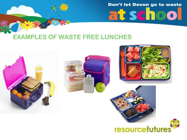 EXAMPLES OF WASTE FREE LUNCHES