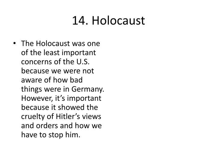 14. Holocaust