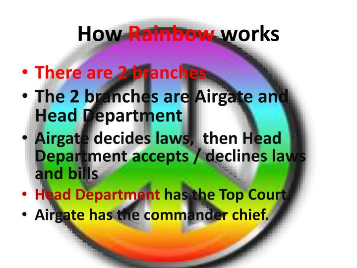 How rainbow works