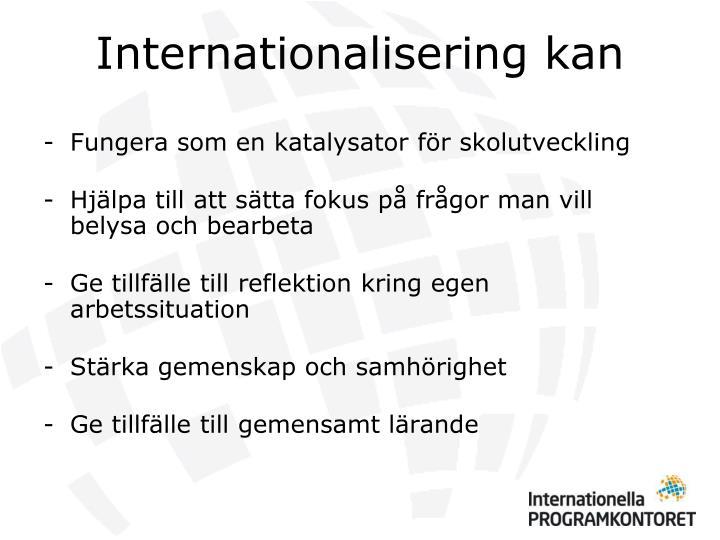 Internationalisering kan