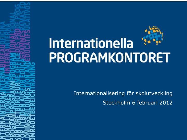 Internationalisering för skolutveckling