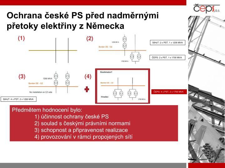 Ochrana české PS před nadměrnými přetoky elektřiny z Německa