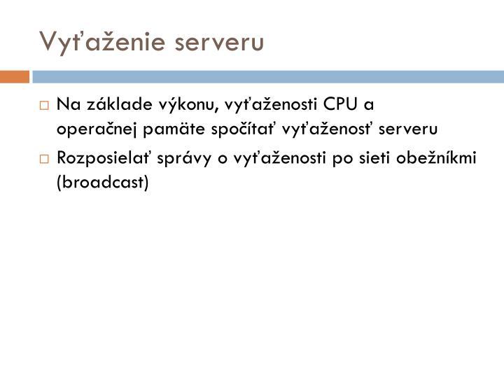 Vyťaženie server