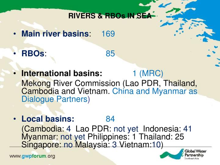 RIVERS & RBOs IN SEA