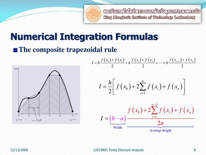 Numerical Integration Formulas