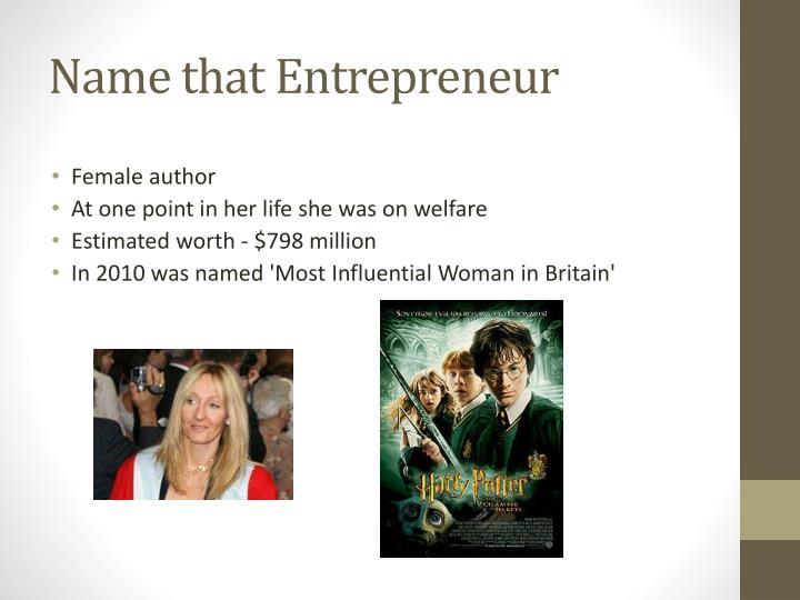 Name that Entrepreneur