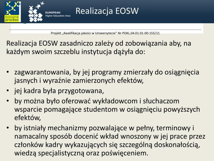 Realizacja EOSW