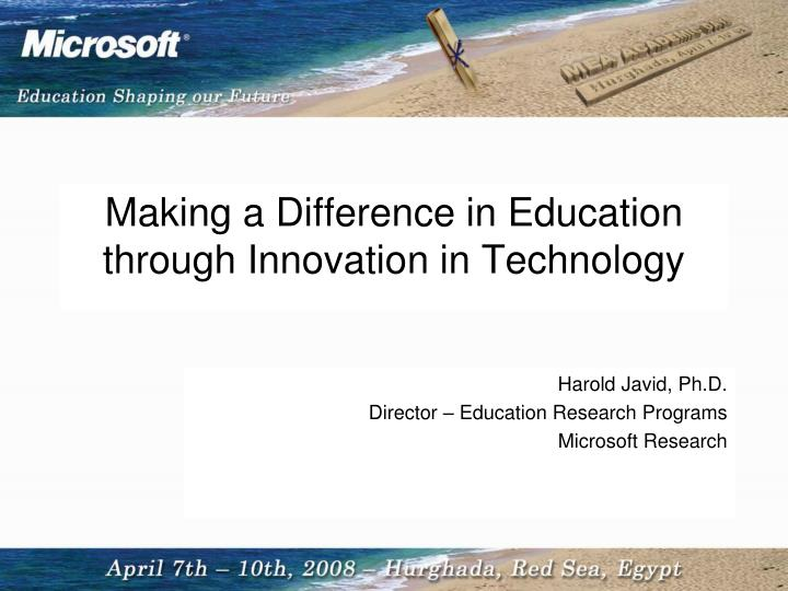 does technology make a difference Technology allows students to become more  how has technology transformed the role of a  whatever you choose to use you need to make sure that you're getting.