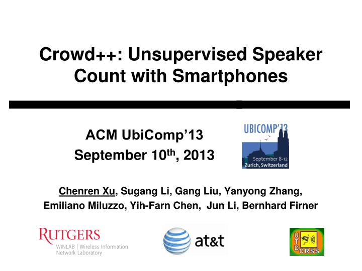 crowd unsupervised speaker count with smartphones