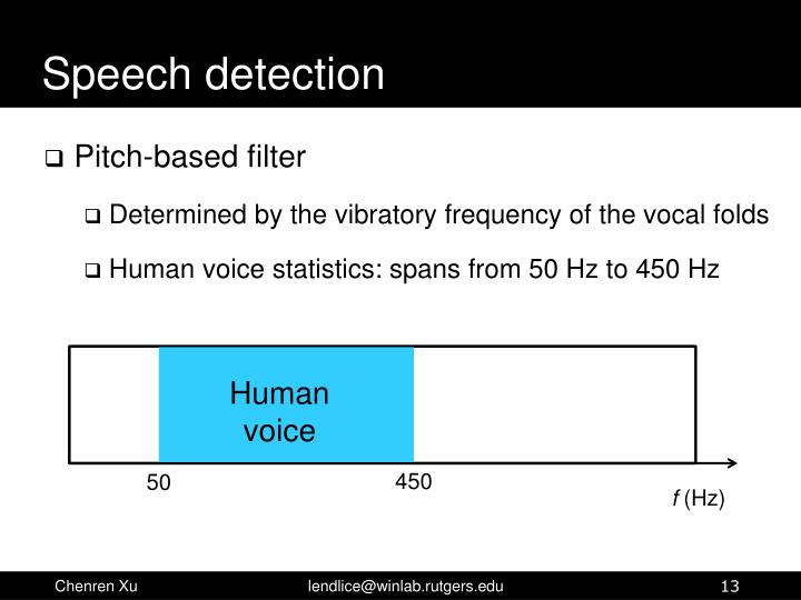 Speech detection