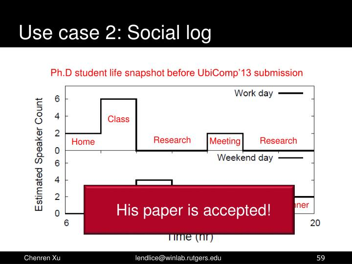 Use case 2: Social log