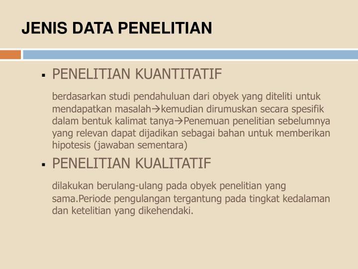 JENIS DATA