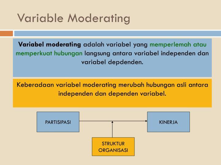 Variable Moderating